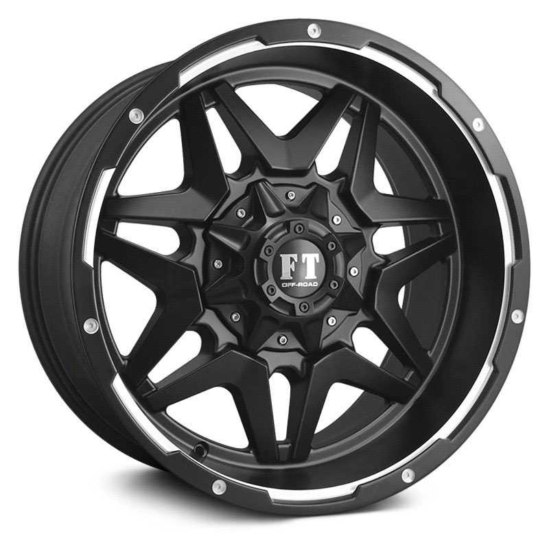 Full Throttle Full Throttle FT5  Wheels Satin Black Machined