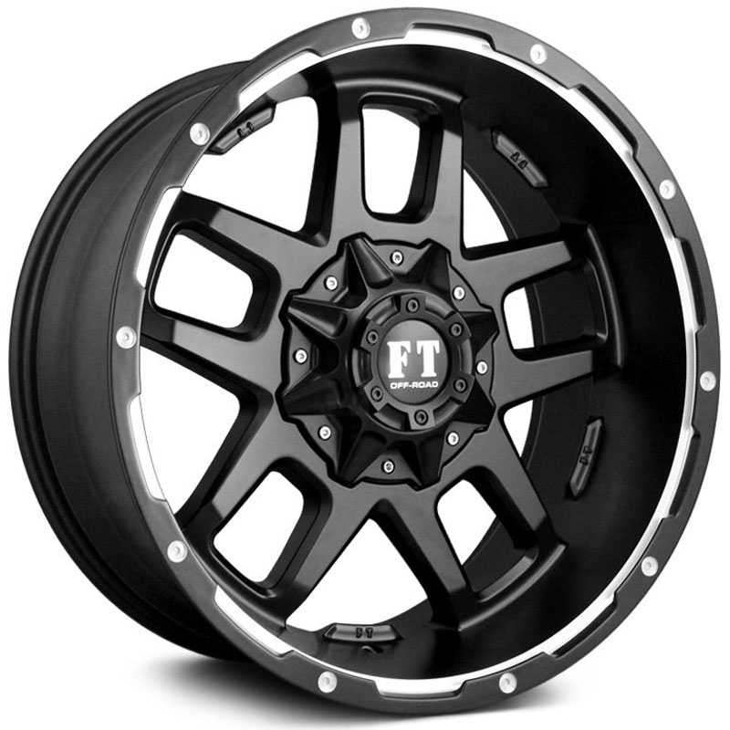 Full Throttle Full Throttle FT6  Wheels Satin Black Machined