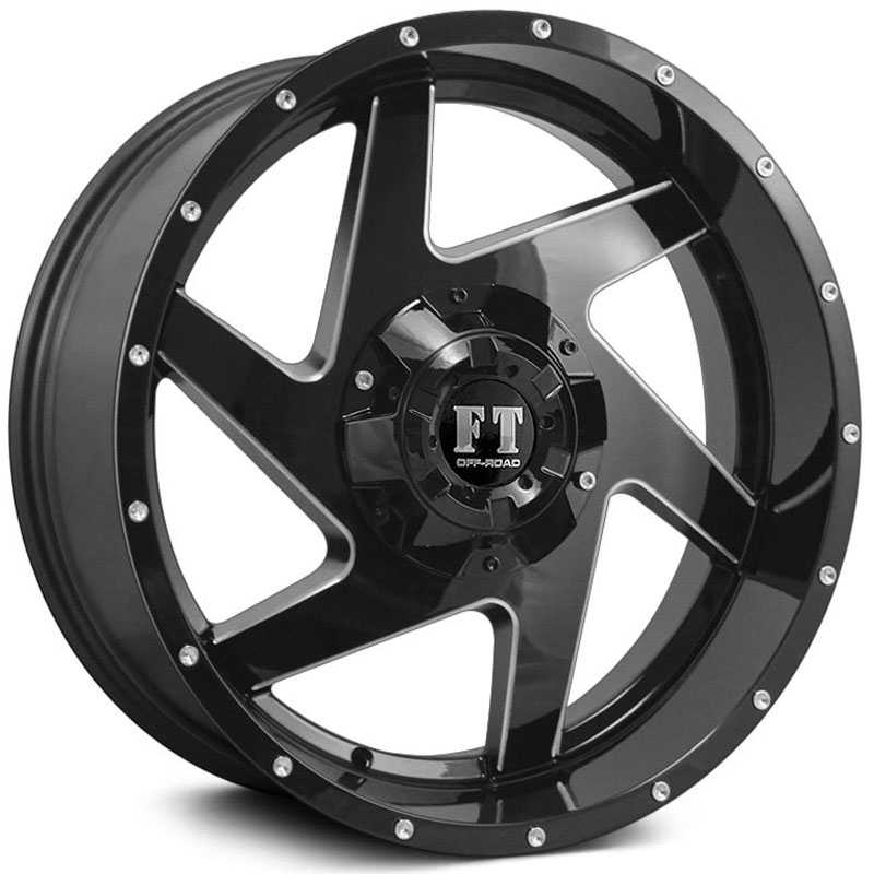Full Throttle Full Throttle FT6052  Wheels Gloss Black Milled