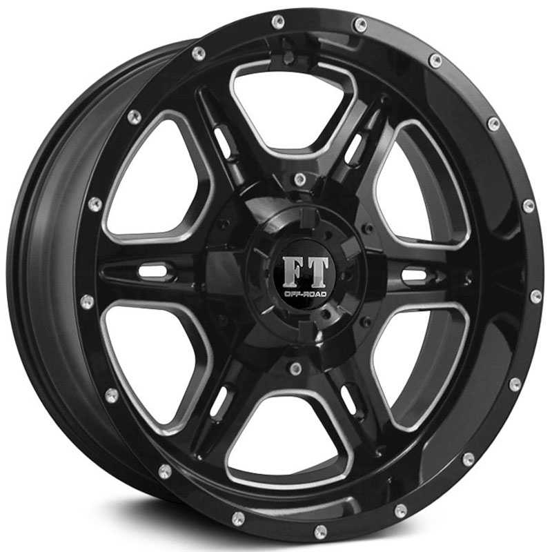 Full Throttle Full Throttle FT6054  Wheels Gloss Black Milled