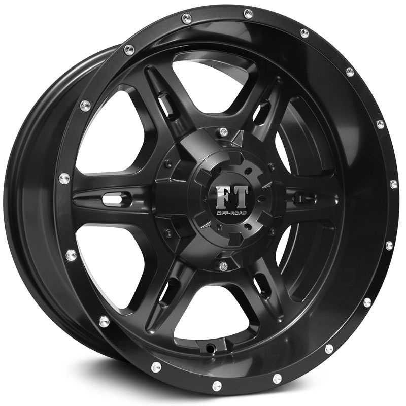 Full Throttle Full Throttle FT6054  Wheels Satin Black