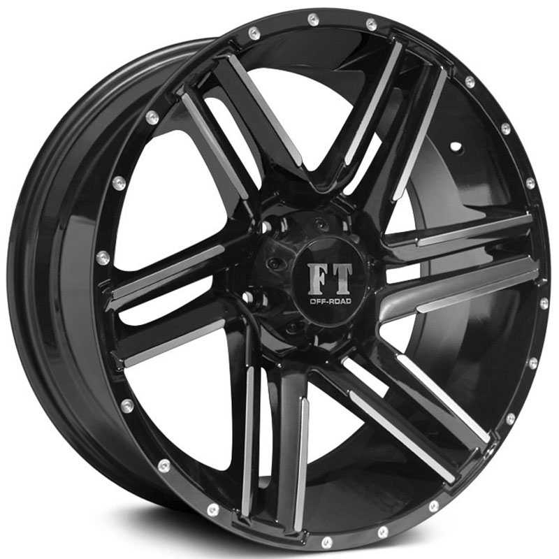 Full Throttle Full Throttle FT7  Wheels Gloss Black Machined Face