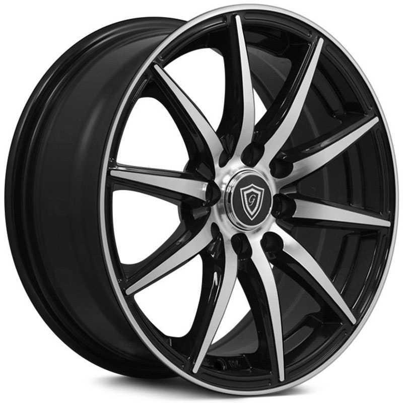G-Line Alloys G0043 Gloss Black Machined Face