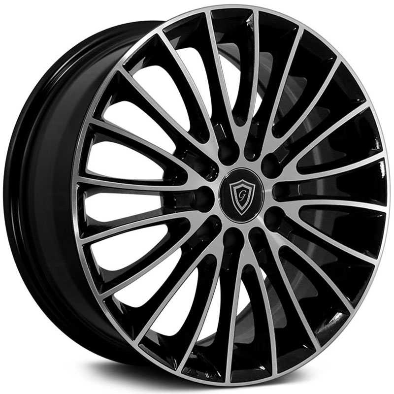 G-Line Alloys G0078 Gloss Black Machined
