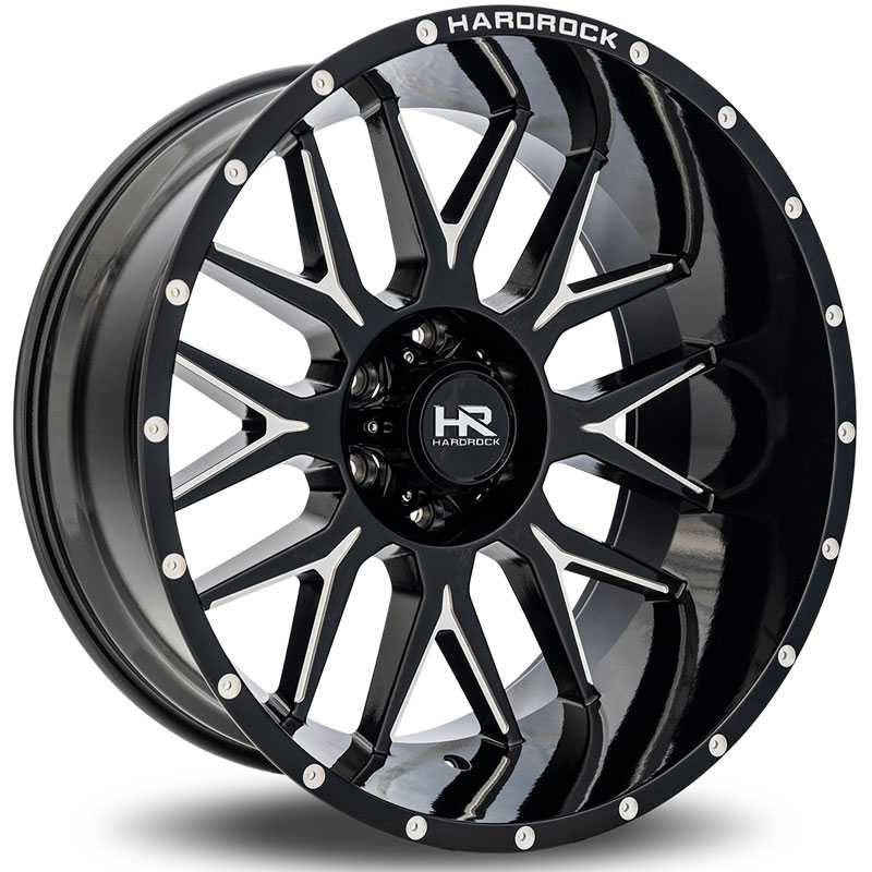 Hardrock Offroad H500 Affliction Xposed  Wheels Gloss Black Milled