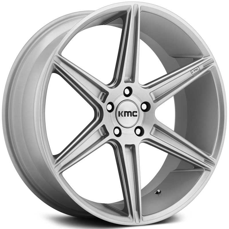 KMC KM711 Prism  Wheels Brushed Silver