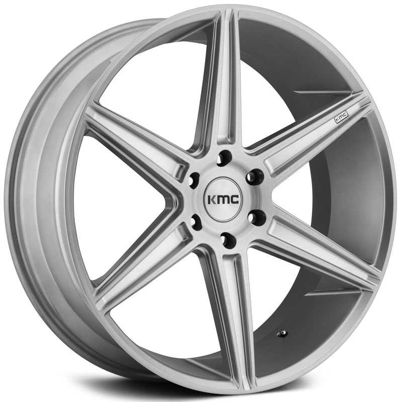 KMC KM712 Prism Truck  Wheels Brushed Silver