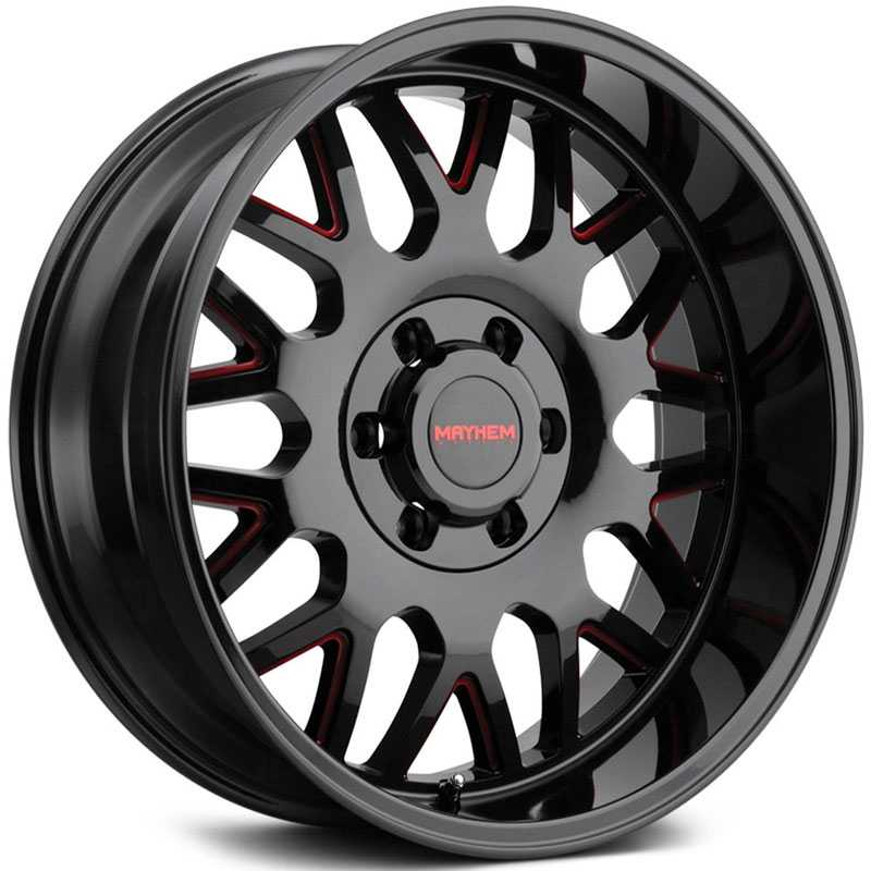 Mayhem Tripwire 8110  Wheels Black w/ Red Prism