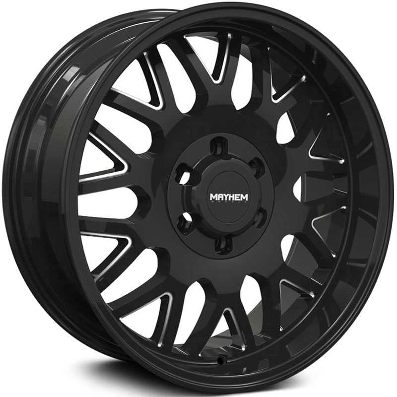 Mayhem Tripwire 8110  Wheels Gloss Black Milled Spokes