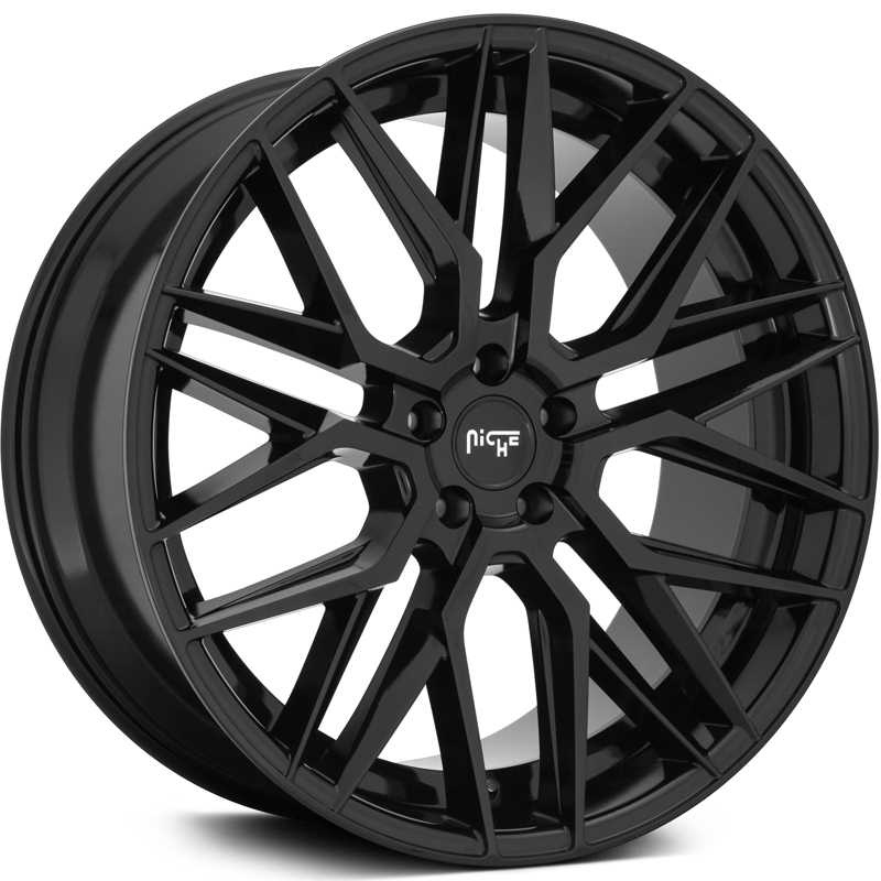 Niche M224 Gamma  Wheels Gloss Black