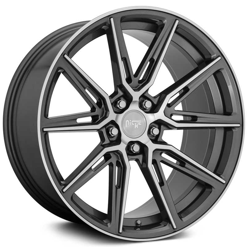 Niche M220 Gemello  Wheels Gloss Anthracite w/ Machined Face