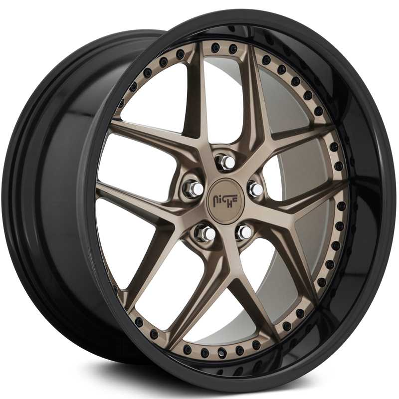 Niche M227 Vice  Wheels Matte Bronze w/ Gloss Black Lip