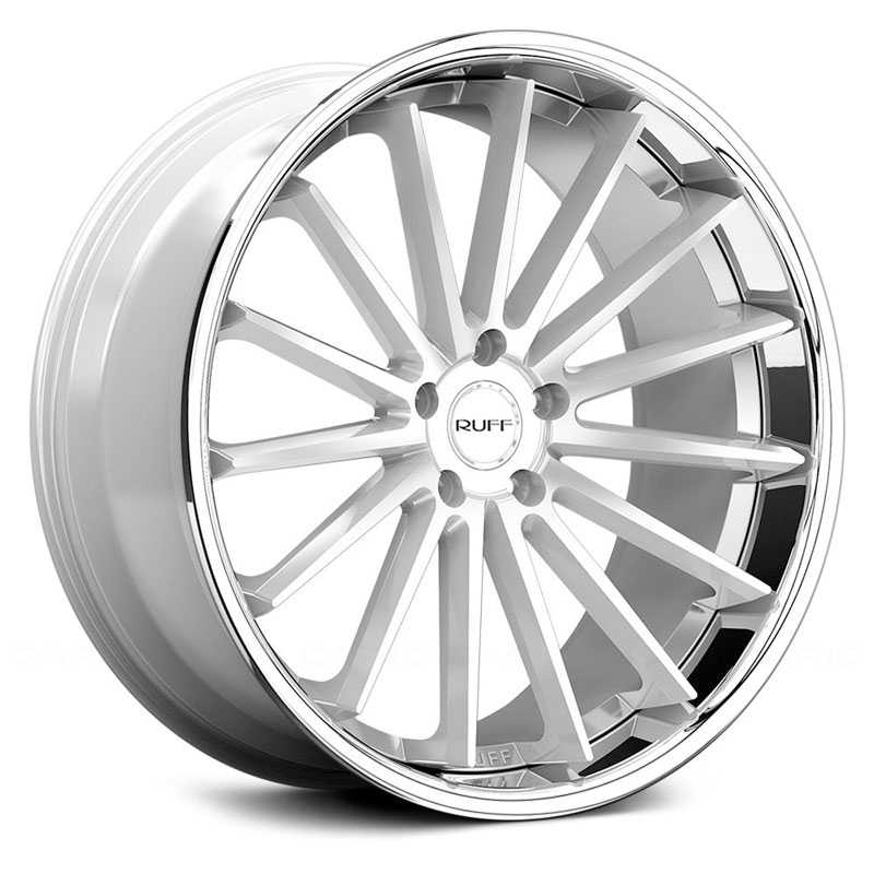 Ruff Racing R03  Wheels Gloss Silver w/ Chrome Stainless Steel Lip