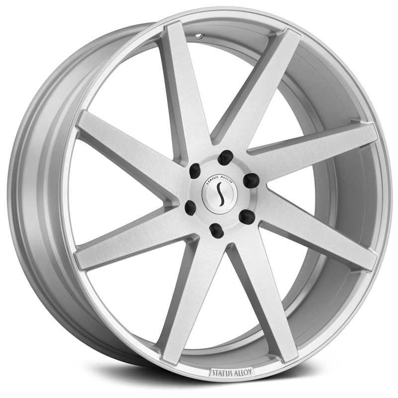 24x9.5 Status Alloy S840 Brute Silver w/ Brushed Machine Face RWD