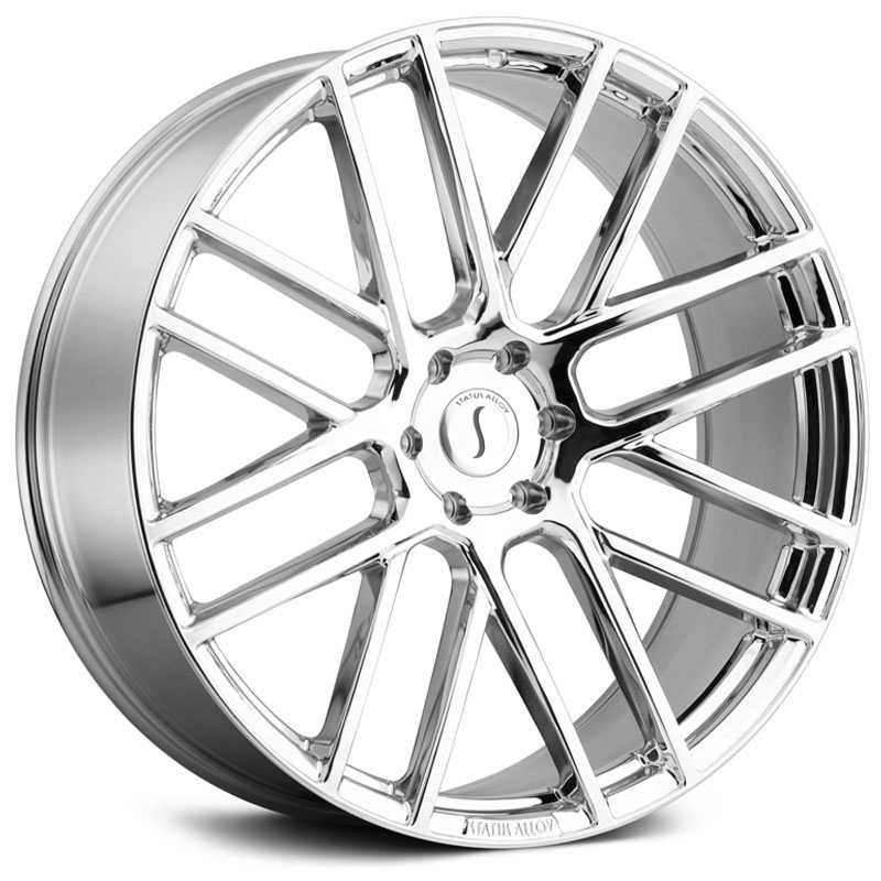24x9.5 Status Alloy S844 Rogue Chrome RWD