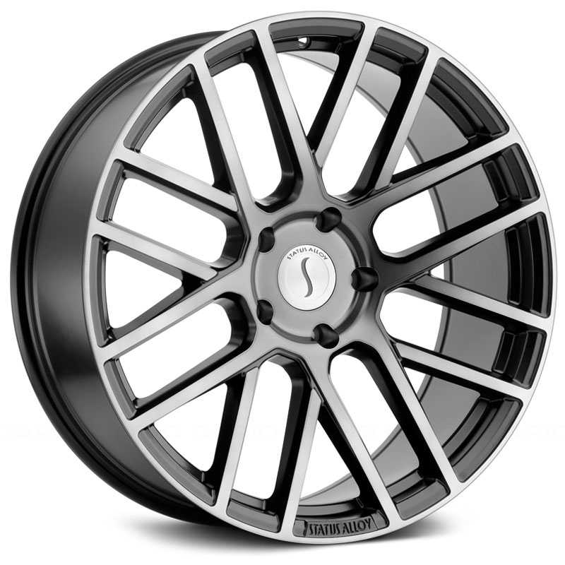 26x10 Status Alloy S844 Rogue Matte Black w/ Tinted Machined Face MID