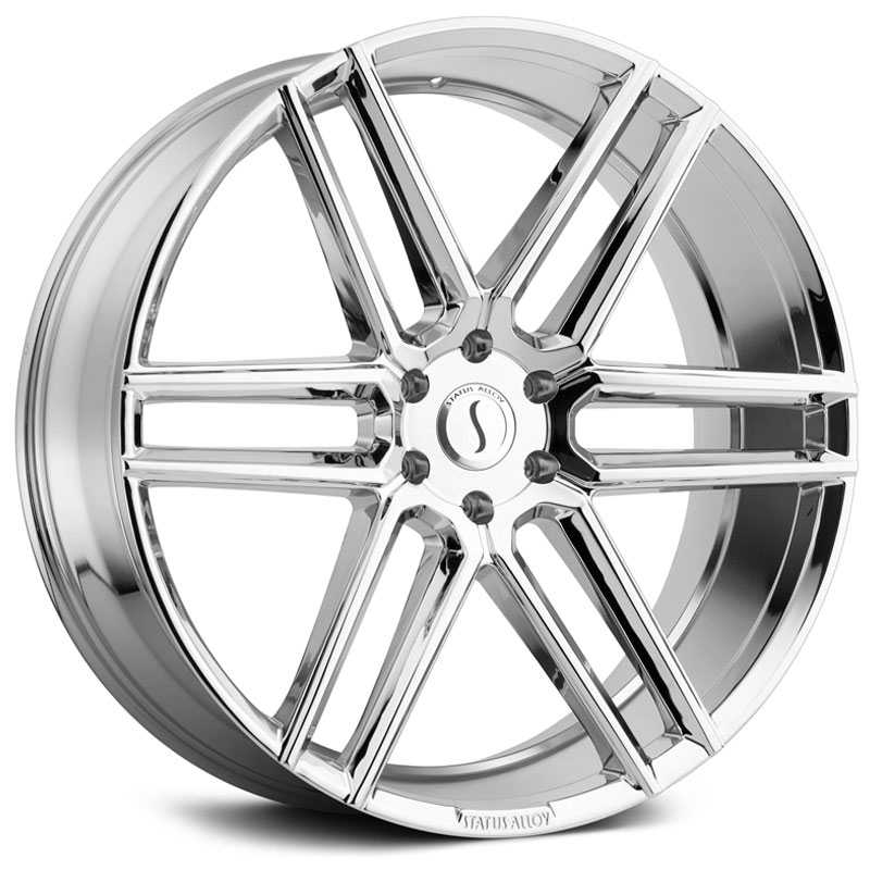 22x9.5 Status Alloy S845 Titan Chrome HPO