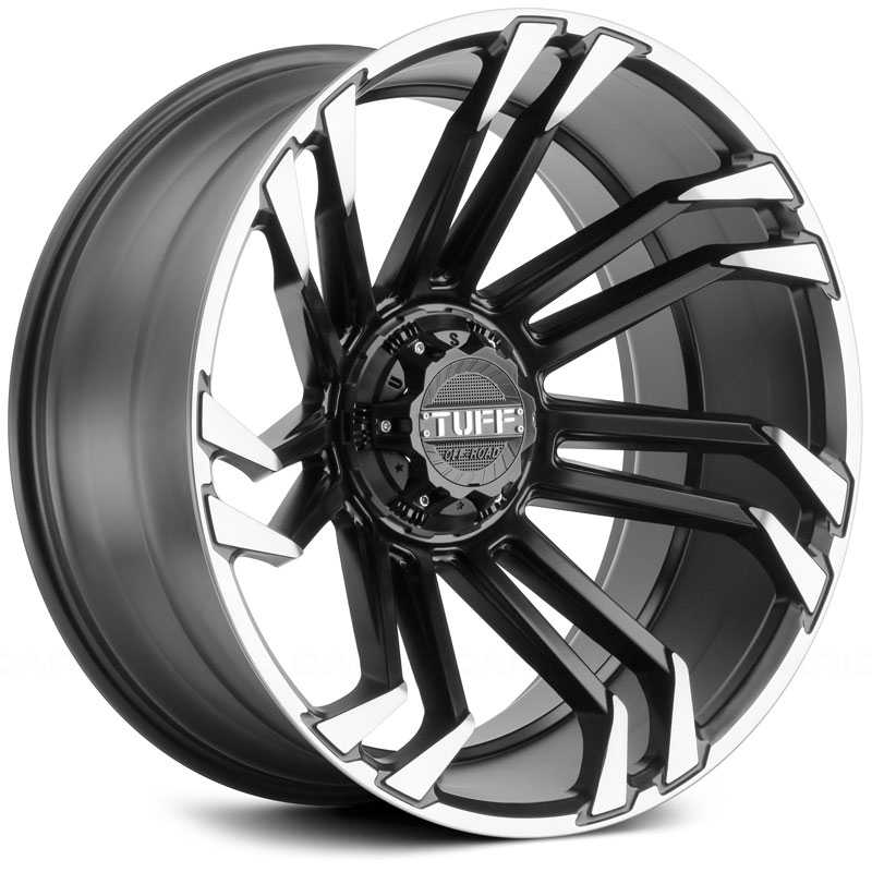 Tuff All Terrain T-21  Wheels Satin Black w/ Machine Tinted Face