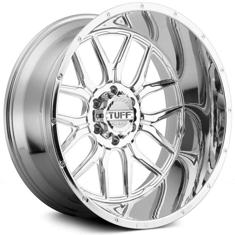 Tuff All Terrain T-23  Wheels Chrome w/ Milled Dimples