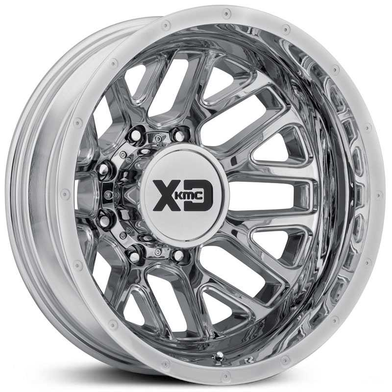 17x6.50 XD Series XD843  Grenade Dually Chrome Rear REV