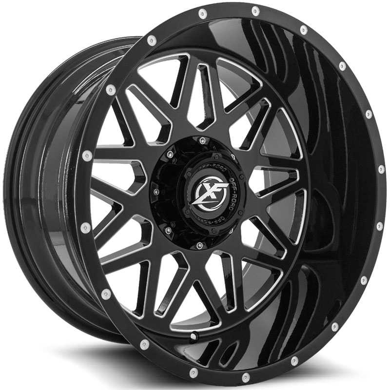 XF Offroad XF-211  Wheels Gloss Black Milled