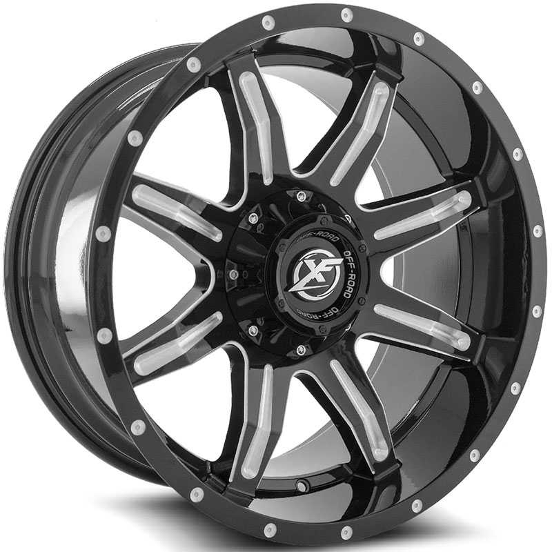 XF Offroad XF-215  Wheels Gloss Black Milled