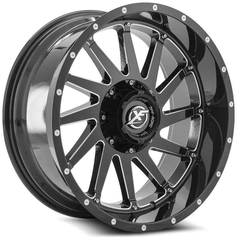 XF Offroad XF-216  Wheels Gloss Black Milled