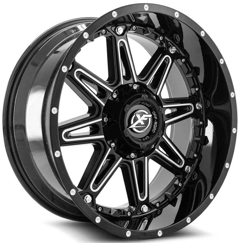 XF Offroad XF-217  Wheels Gloss Black Milled