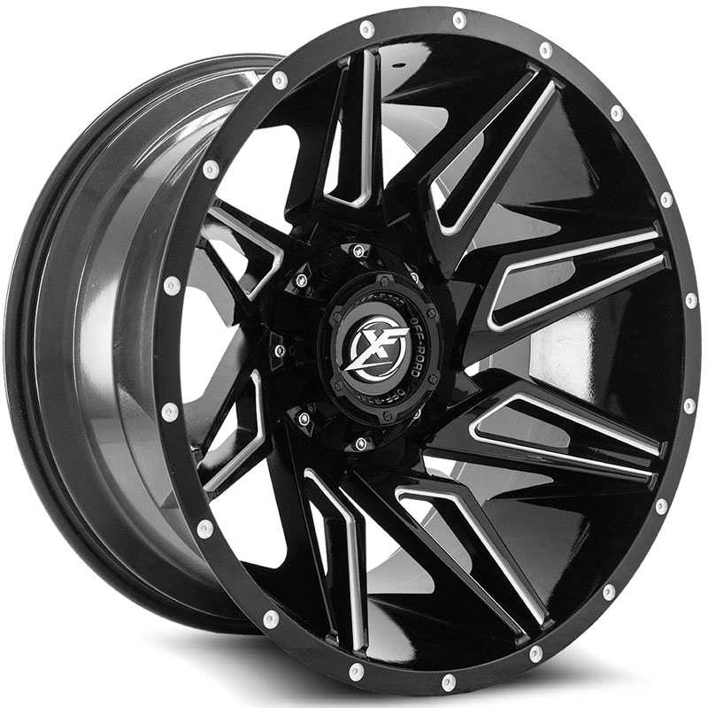 XF Offroad XF-218  Wheels Gloss Black Milled