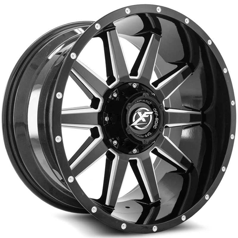 XF Offroad XF-219  Wheels Gloss Black Milled