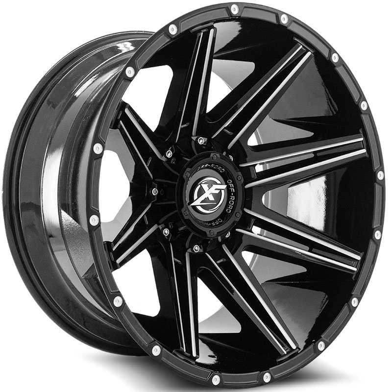 XF Offroad XF-220  Wheels Gloss Black Milled