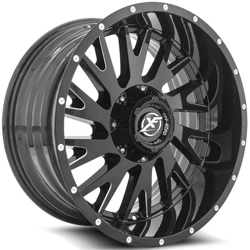 XF Offroad XF-221  Wheels Gloss Black Milled