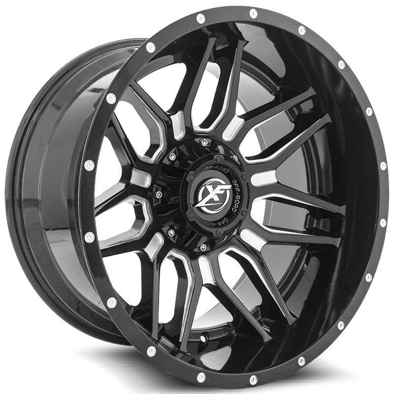 XF Offroad XF-222  Wheels Gloss Black Milled