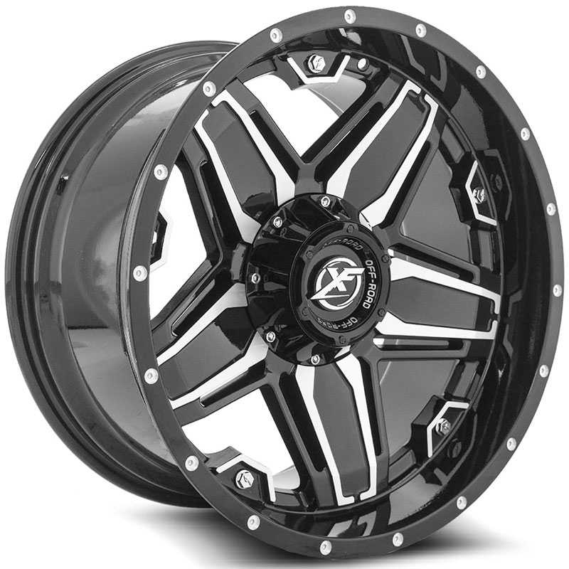 XF Offroad XF-223  Wheels Gloss Black Machined