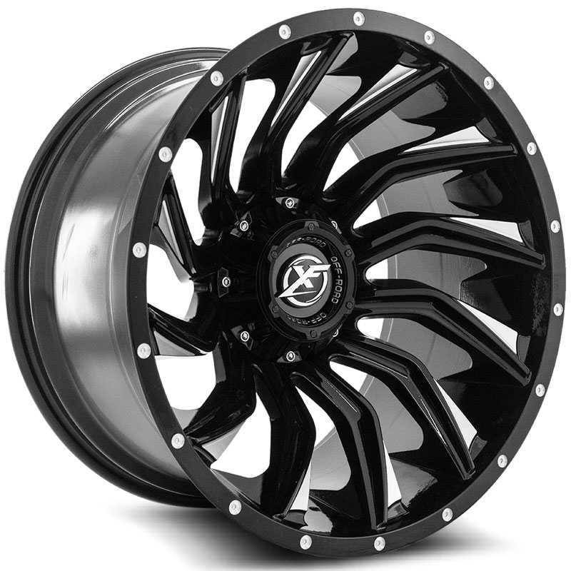 XF Offroad XF-224  Wheels Gloss Black Machined