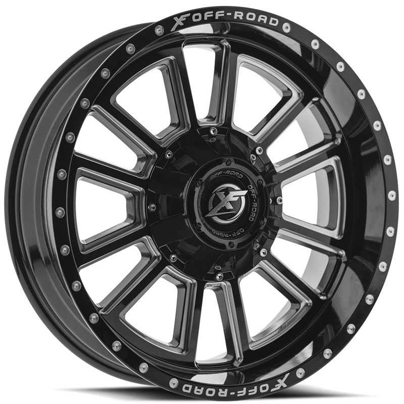 XF Offroad XF-225  Wheels Gloss Black Machined