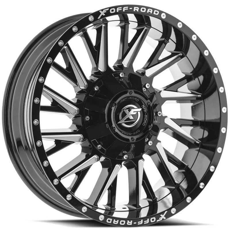 XF Offroad XF-226  Wheels Gloss Black Milled