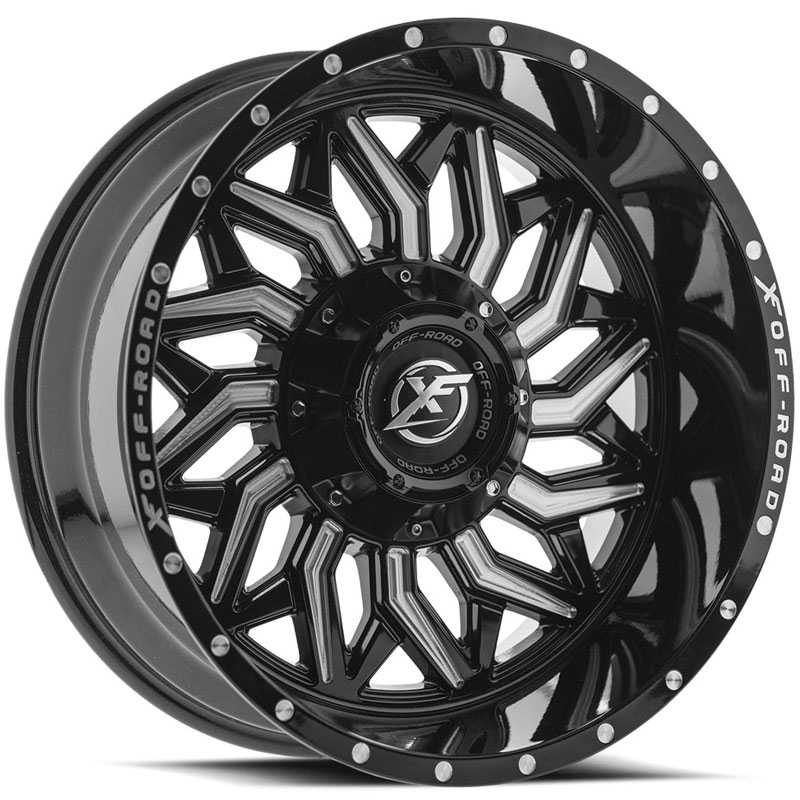 XF Offroad XF-228  Wheels Gloss Black Milled