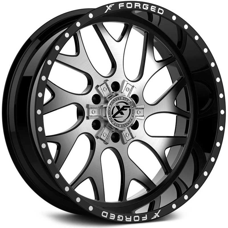 XF Offroad Forged XFX-301  Wheels Gloss Black w/ Brushed Face