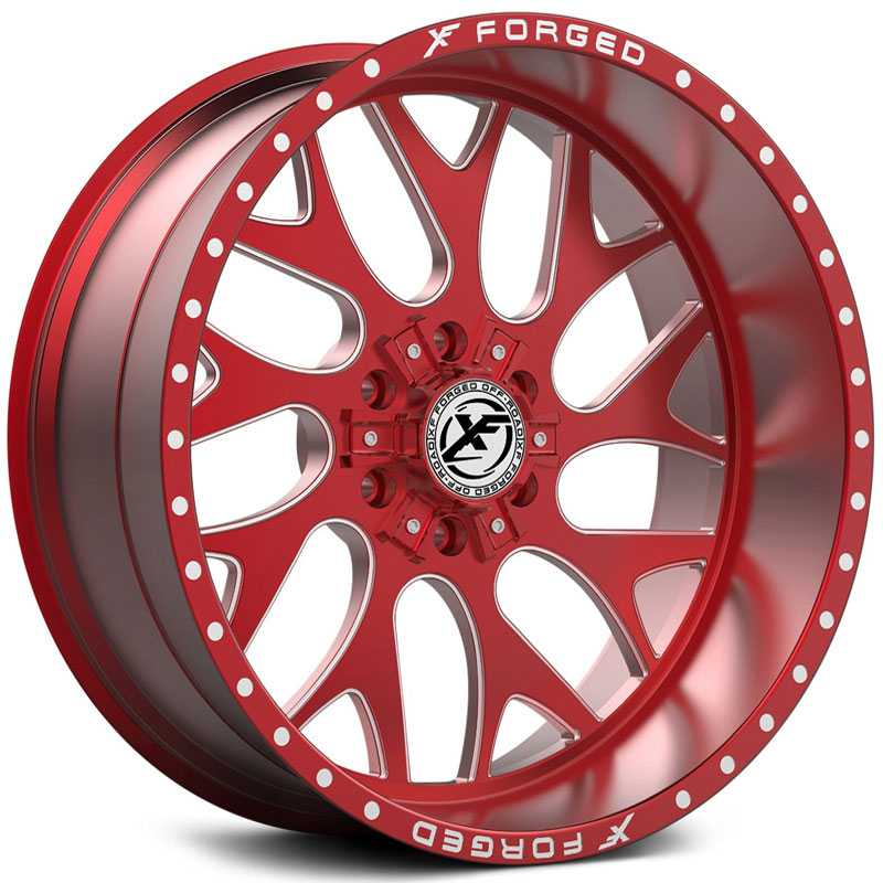 XF Offroad Forged XFX-301  Wheels Red Milled