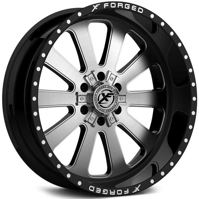 XF Offroad Forged XFX-302  Wheels Gloss Black w/ Brushed Face