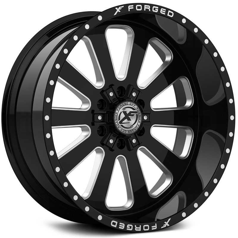 XF Offroad Forged XFX-302  Wheels Gloss Black Milled w/ Windows
