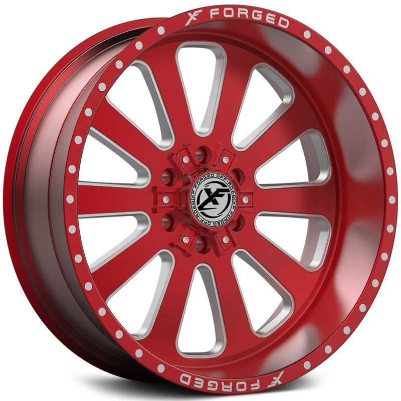 XF Offroad Forged XFX-302  Wheels Red Milled