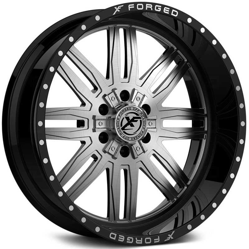 XF Offroad Forged XFX-303  Wheels Gloss Black w/ Brushed Face