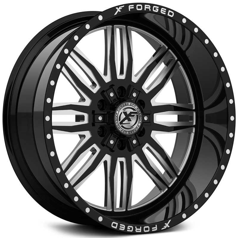 XF Offroad Forged XFX-303  Wheels Gloss Black Milled w/ Windows