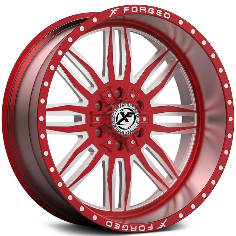 XF Offroad Forged XFX-303  Wheels Red Milled