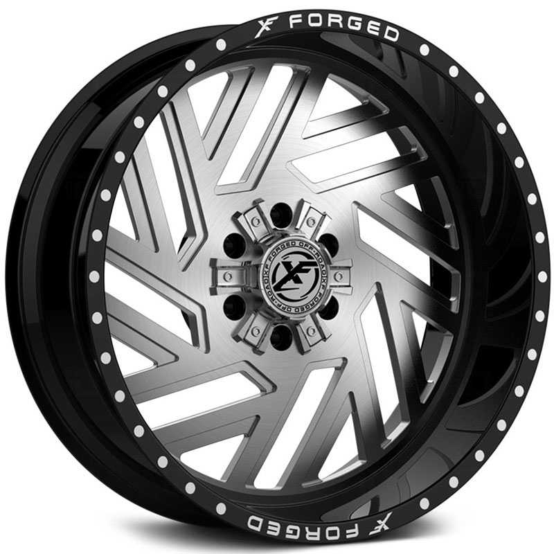 XF Offroad Forged XFX-304  Wheels Gloss Black w/ Brushed Face