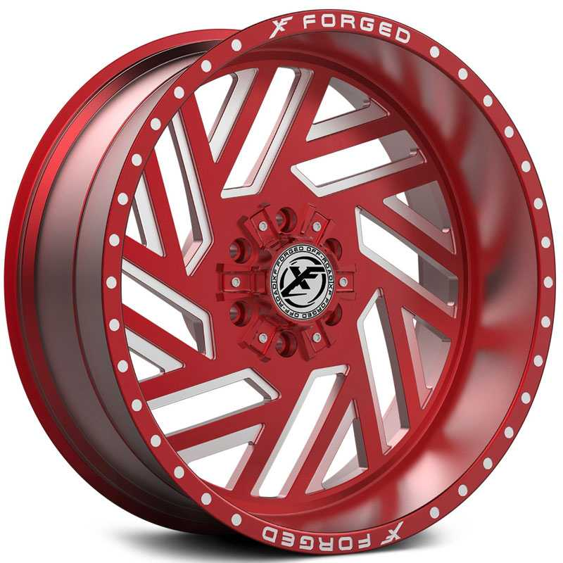XF Offroad Forged XFX-304  Wheels Red Milled