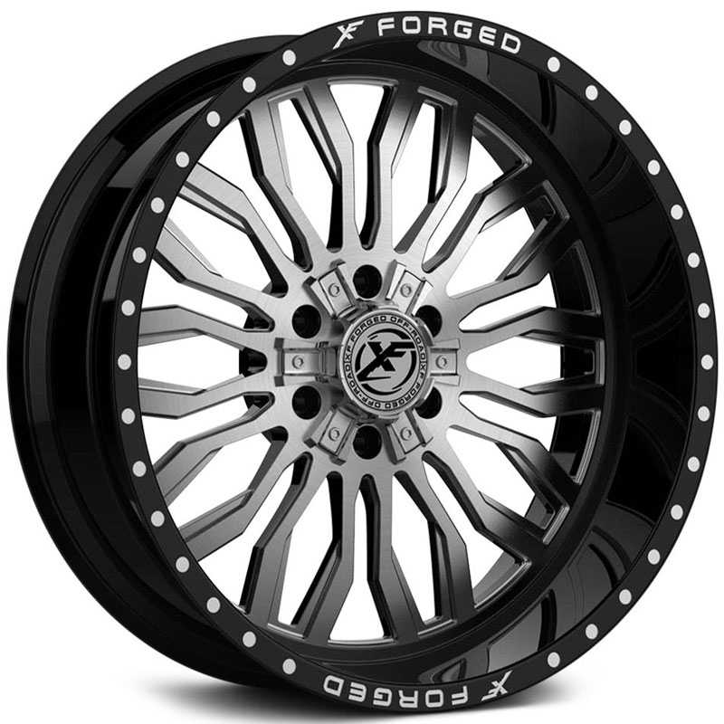 XF Offroad Forged XFX-305  Wheels Gloss Black w/ Brushed Face