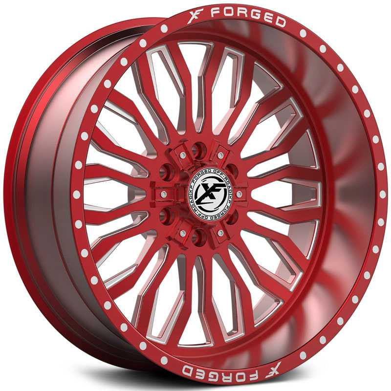 XF Offroad Forged XFX-305  Wheels Red Milled